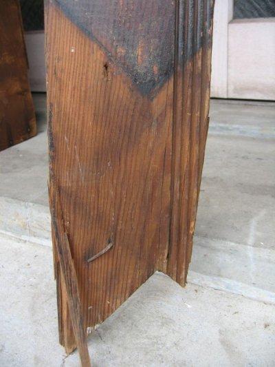 画像3: 天井 床 見切り モールディング トランザム 壁材 床材 廃材 ブラウン シャビー アンティーク ビンテージ