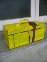 1950'S ツールボックス メタルボックス 工具箱 2段 Kennedy Kits イエロー インダストリアル アンティーク ビンテージ