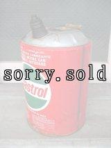 カストロール キャストロール 携行缶 ティン缶 ガソリン缶 Castrol オイル缶 大型 アンティーク ビンテージ