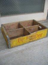 ボトルクレート Dr Pepper ボトルケース ウッドボックス 木箱 アドバタイジング アンティーク ビンテージ その2