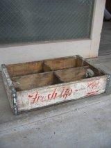 ボトルクレート Fresh Up 7up ボトルケース ウッドボックス 木箱 アドバタイジング アンティーク ビンテージ その2