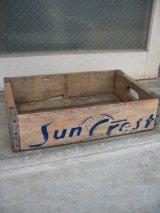 ボトルクレート サンクレスト Sun Crest ボトルケース ウッドボックス 木箱 アドバタイジング アンティーク ビンテージ その2