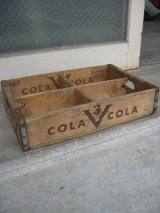 ボトルクレート 3V COLA ボトルケース ウッドボックス 木箱 アドバタイジング アンティーク ビンテージ その1