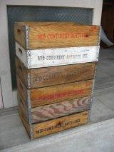 ボトルクレート MID-CONTINENT BOTTLERS ボトルケース ウッドボックス 木箱 アドバタイジング アンティーク ビンテージ その1