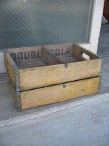 ボトルクレート ダブルコーラ DOUBLE COLA ボトルケース ウッドボックス 木箱 アドバタイジング アンティーク ビンテージ その5