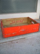 ボトルクレート SQUIRT ボトルケース ウッドボックス 木箱 アドバタイジング アンティーク ビンテージ