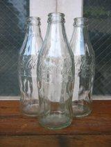 エンボスボトル ソーダボトル ポップボトル ガラス瓶 コカコーラ COCA COLA coke クリアガラス アドバタイジング アンティーク ビンテージ