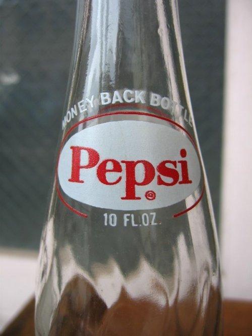 other photographs.2: 1960'S SODA BOTTLE ソーダボトル ポップボトル ガラス瓶 ペプシコーラ PEPSI COLA 大 アドバタイジング アンティーク ビンテージ
