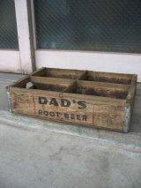 ボトルクレート DAD'S ROOT BEER ボトルケース ウッドボックス 木箱 アドバタイジング アンティーク ビンテージ