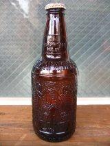 ソーダボトル ポップボトル ガラス瓶 SIOUX CITY SARSAPARILLA BROWN GLASS SODA BOTTLE アドバタイジング アンティーク ビンテージ