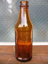 1930'S SODA BOTTLE ソーダボトル ポップボトル ガラスボトル メジャーボトル アンバー アンティーク ビンテージ