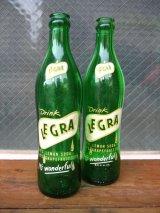 1950'S レア SODA BOTTLE ソーダボトル ポップボトル ガラス瓶 LEGRA Lemon Grapefruit SODA アドバタイジング アンティーク ビンテージ