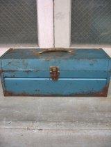 ツールボックス メタルボックス 工具箱 COMPANION ブルー インダストリアル アンティーク ビンテージ