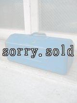 ツールボックス メタルボックス 工具箱 ブルー インダストリアル アンティーク ビンテージ