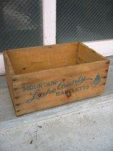 ウッドボックス 木箱 ストレージBOX MOUNTAIN BARTLETTS LAKE COUNTY アンティーク ビンテージ