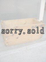 ウッドボックス SUPPLEMENTARY CHARGE ASSY 木箱 ストレージBOX アドバタイジング アンティーク ビンテージ