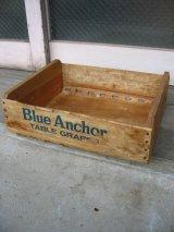 ウッドボックス カリフォルニア Blue Anchor 木箱 ストレージBOX アドバタイジング アンティーク ビンテージ