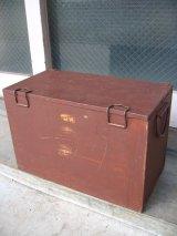 1950年代 ペイント メタル クーラーボックス ブラウン アウトドア アンティーク ビンテージ