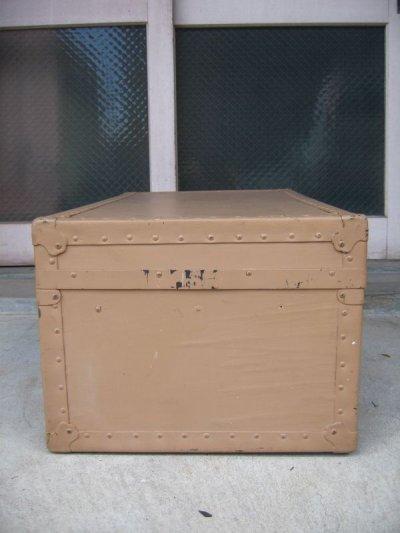 画像2: トランク スーツケース 中型 ベージュ 店舗什器に アンティーク ビンテージ