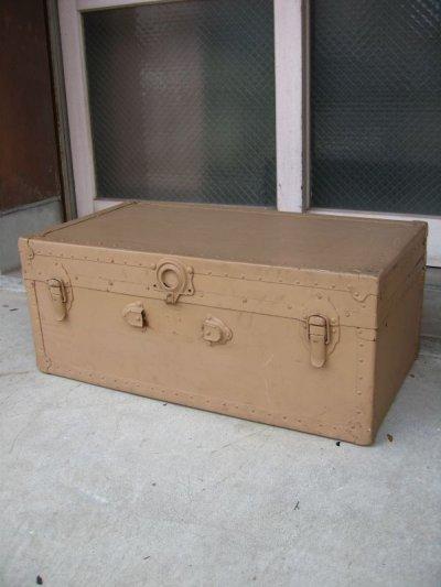画像1: トランク スーツケース 中型 ベージュ 店舗什器に アンティーク ビンテージ