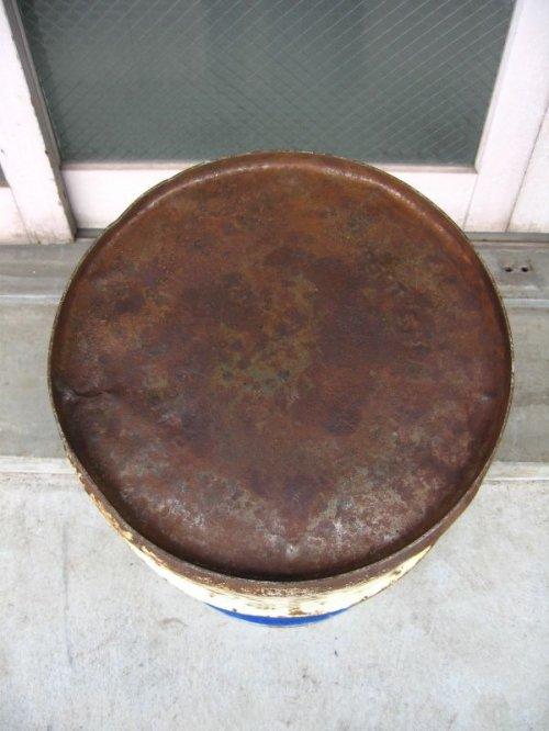 other photographs.2: オイル缶 SUNOCO 中型 ドラム缶 DX トラッシュカン ダストボックス アンティーク ビンテージ