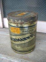 ティン缶 FLEISCHMANN'S 蓋付き トラッシュカン ダストボックスなどに アンティーク ビンテージ