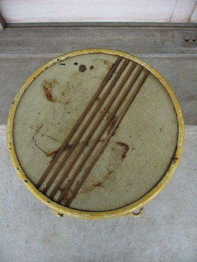 画像5: 1910'S 20'S アイスクリームパーラーチェア ハイスツール ツイスト アイアンレッグ ウッド×アイアン イエロー アンティーク ビンテージ