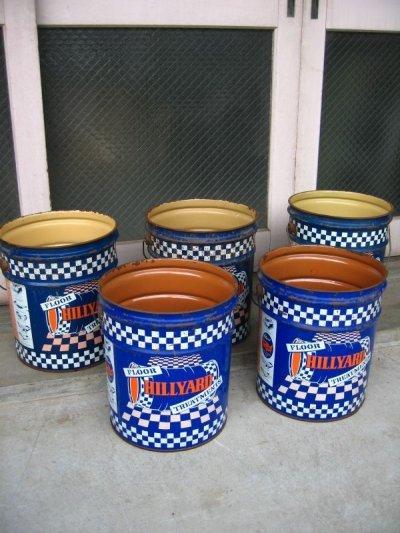 画像1: トラッシュカン おしゃれなゴミ箱に! ティン缶 HILLYARD アンティーク ビンテージ
