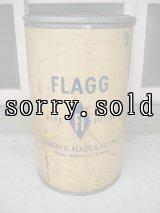 ペーパードラム缶 50'S 60'S FLAGG アドバタイジング ファイバードラム ダストボックス trash can ゴミ箱 スチール×硬質厚紙 大型 アンティーク ビンテージ