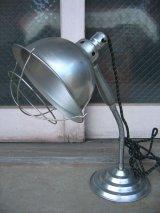 インダストリアル デスクランプ兼ハンドライト デッドストック アイアン メタル アルミシェード アンティーク ビンテージ