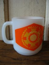 Glasbake マグカップ ミルクガラス プリント アンティーク ビンテージ