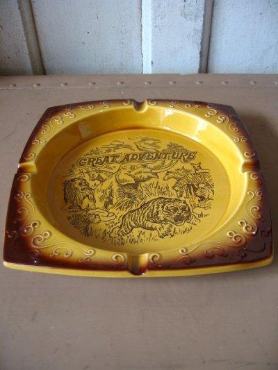画像1: 灰皿 アッシュトレイ GREAT ADVENTURE MADE IN JAPAN 陶器 アンティーク ビンテージ