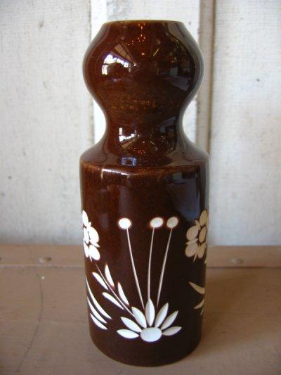 画像1: 花瓶 一輪挿し モダン ミッドセンチュリー フラワーベース 陶器 アンティーク ビンテージ