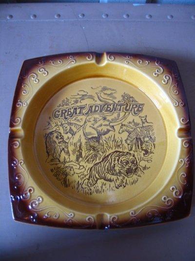 画像3: 灰皿 アッシュトレイ GREAT ADVENTURE MADE IN JAPAN 陶器 アンティーク ビンテージ