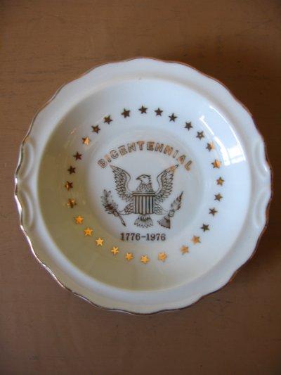 画像2: 灰皿 アッシュトレイ BICENTENNIAL ハクトウワシ 陶器 アンティーク ビンテージ
