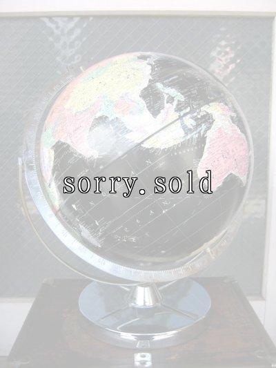 画像1: 美品 ブラックオーシャングローブ 黒い地球儀 縦横360度回転可能 リプルーグル社製 アンティーク ビンテージ