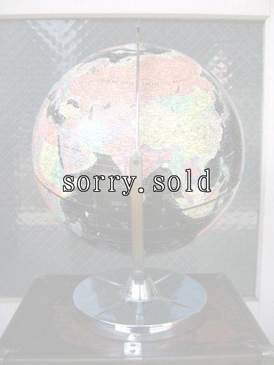 画像2: 美品 ブラックオーシャングローブ 黒い地球儀 縦横360度回転可能 リプルーグル社製 アンティーク ビンテージ