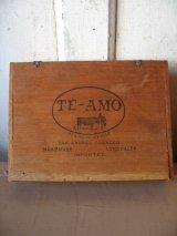 シガー木箱 TE-AMO 葉巻 タバコ シガーボックス ギター アクセサリーケース アドバタイジング アンティーク ビンテージ