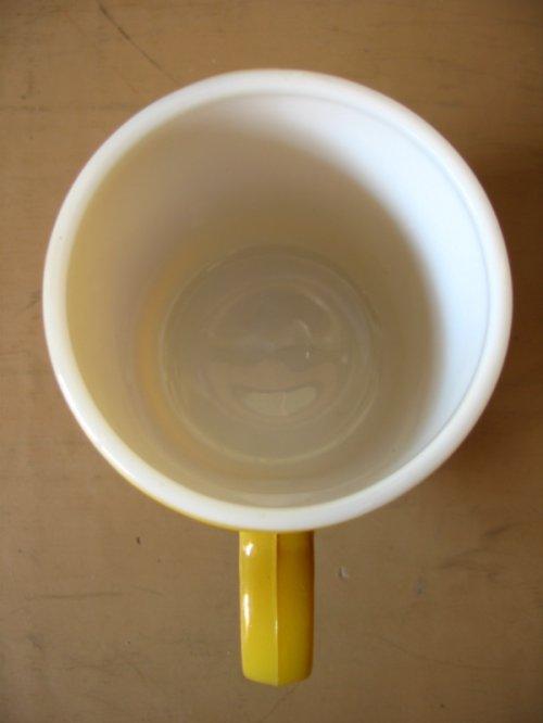 other photographs.1: マグカップ ミルクガラス カラーマグ 山吹色 アンティーク ビンテージ
