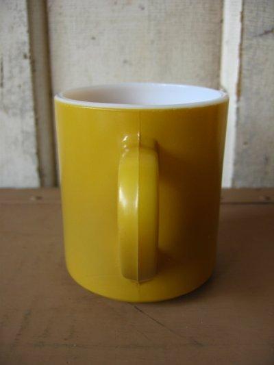 画像4: マグカップ ミルクガラス カラーマグ 山吹色 アンティーク ビンテージ