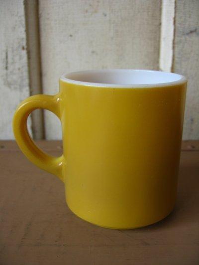 画像3: マグカップ ミルクガラス カラーマグ 山吹色 アンティーク ビンテージ