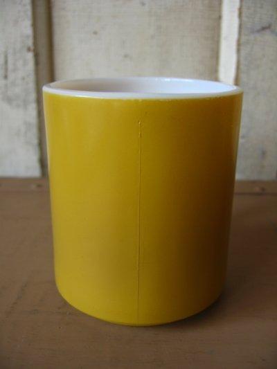 画像2: マグカップ ミルクガラス カラーマグ 山吹色 アンティーク ビンテージ