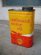 ティン缶 SHELL シェル オイル缶 アンティーク ビンテージ