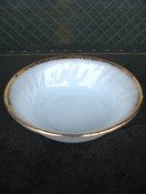 50'S ファイヤーキング swirl 22K デザートボウル スワール ゴールドトリム ホワイト デッドストック アンティーク ビンテージ