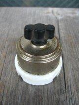 アメリカ製 サーフェイススイッチ ロータリースイッチ ターンスイッチ 真鍮 クロームメッキ ポーセリン アンティーク ビンテージ