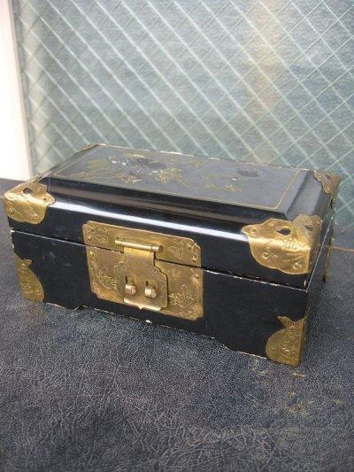 画像1: ジュエリーケース アクセサリーボックス ジュエリーボックス 宝石箱 オリエンタルビンテージ 小物入れ アンティーク ビンテージ