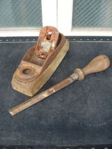 Old Carpenter's Objet オブジェ 工具セット 鉋 ヤスリ ウッド アイアン ショップディスプレイに アンティーク ビンテージ