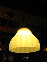シーリングライト 1灯 へヴィーミルクガラスシェード ペンダントライト 真鍮 装飾 アンティーク ビンテージ