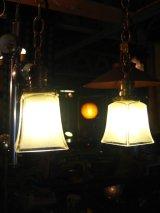 シーリングライト ペア 1灯 フロストガラスシェード ペンダントライト 真鍮 2PCS SET アンティーク ビンテージ