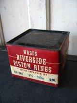 ティン缶 ピストンリング WARDS RIVERSIDE PISTON RINGS ショップディスプレイなどに アンティーク ビンテージ